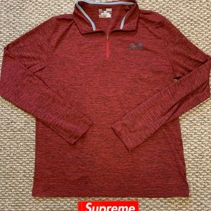 Maroon Under Armour Quarter Zip Lightweight